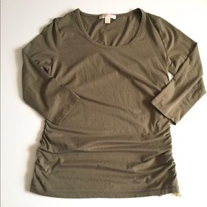 Michael Kors Ruched Side Top